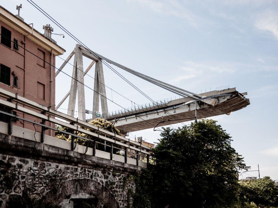 ingestorte Morandibrug Genoa