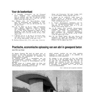Practische, economische oplossing van een abri in gewapend beton